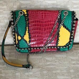 Zara multicolor leather crossbody bag