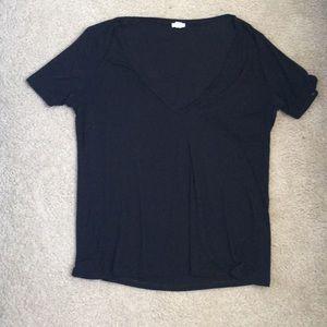 Super soft deep v t shirt