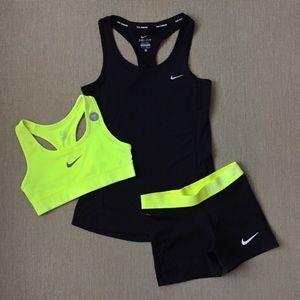 """XS Nike bundle-Bra, Tank, 3"""" Spandex"""