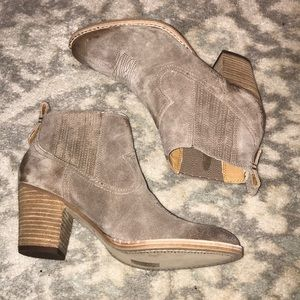 Brand New!  Dolce Vita Tan Suede Bootie.