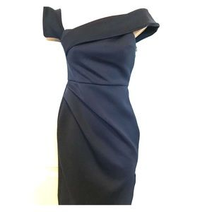 ASOS Navy Scuba Dress. Wedding, New Years Eve Sz 4