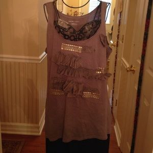 New York and company stylish tank top grey