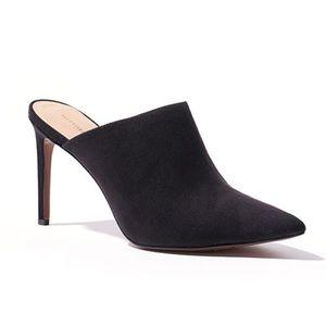 Black Micro Suede Mules
