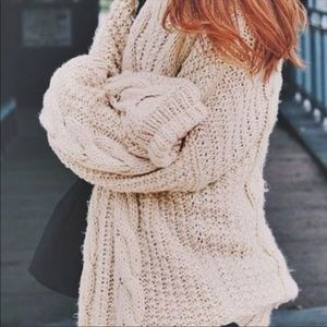 Urban Outfitters BDG cable knit cozy sweater