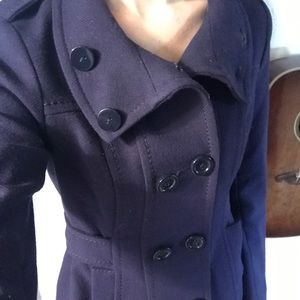 H&M Divided navy blue peacoat size 2 - REPOSH
