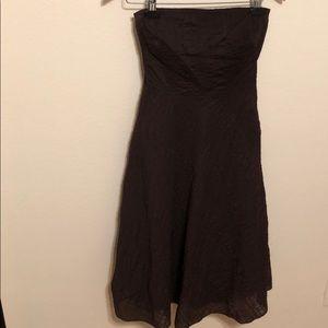 J Crew Strapless Seersucker Dress