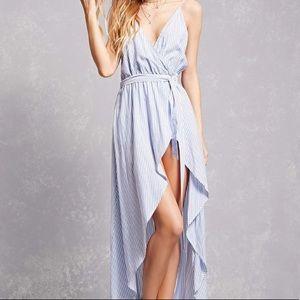 F21   Striped Cami Wrap Dress