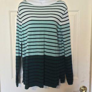 Talbots Sz Large Striped Sweater