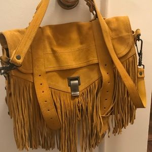 Proenza Schouler PS1 Medium Yellow Suede Fringe