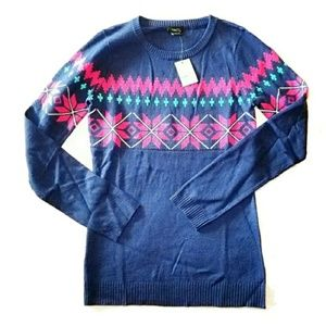 Sweaters - NWT Ugly Christmas Crew Neck Sweater Blue xl