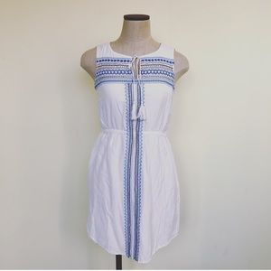 Anthropologie Kenji White Beaded Tunic Dress