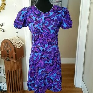 VTG Retro Bright & Funky 70s Mini Dress!♡