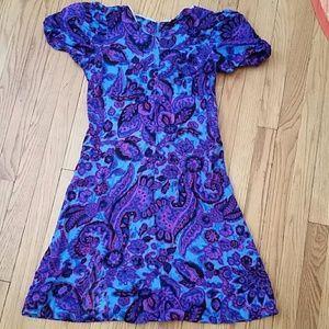 Vintage Dresses - VTG Retro Bright & Funky 70s Mini Dress!♡