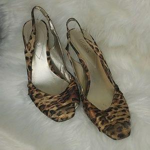 Guess Sling back Cheetah Heels