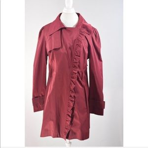 Jessica Simpson Maroon Red tench  Jacket
