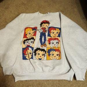 Vtg 90s Hip Hop Betty Boop Warhol Sweatshirt XL