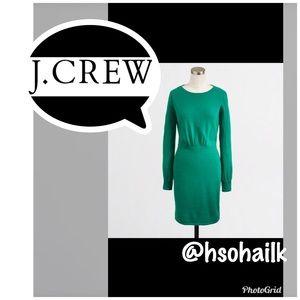 J.Crew green sweater dress