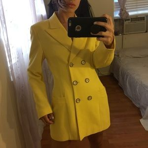Vintage Mondi Bright Yellow Blazer Dress