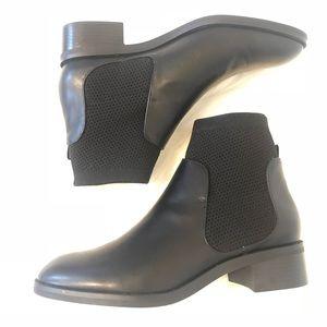 Zara Black Leather Boot
