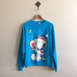 '80s / Snoopy Snowglobe Sweatshirt