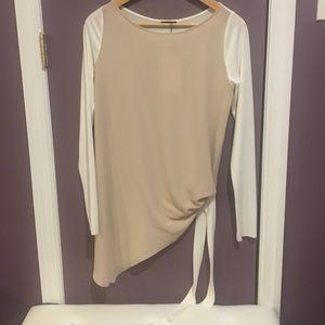 NWT Zara Side Tie Blouse