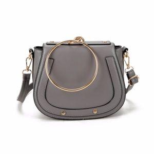 Handbags - Metal Handle Handbag