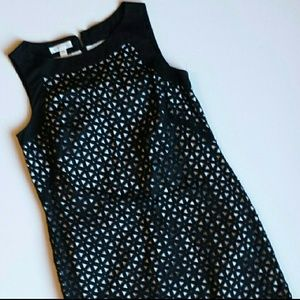 Black and White Geometric Patterned Dress