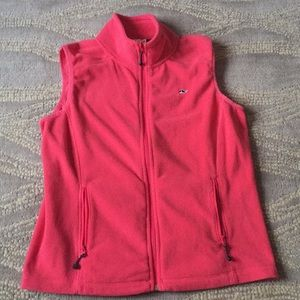 Vineyard vines size medium pink whale fleece vest