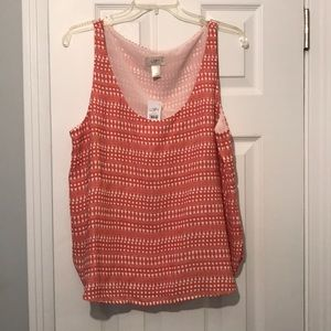 Loft shell tank top - PL - NWT 🏵