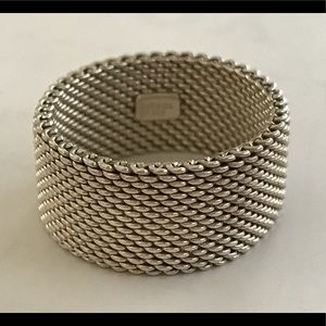 Tiffany & Co Mesh ring size 7