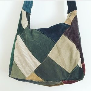 90s Corduroy Patch Bag