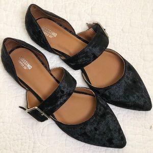 Maliha Velvet Mary Jane Ballet Flats Size 10
