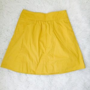 J. CREW Mustard A-Line Lined Skirt Size 10