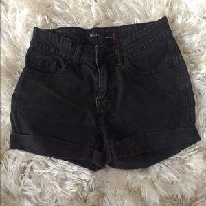 BDG high waisted black shorts size 24