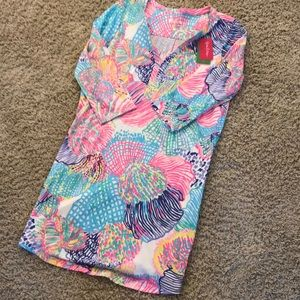 NWT LILLY PULITZER COTTON DRESS SIZE LARGE🌈🌈