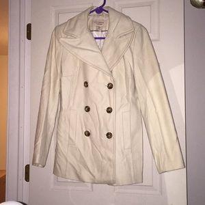 Off-white Wool Peacoat