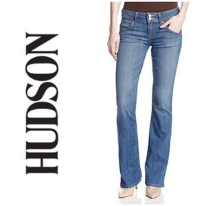 Hudson Mid-rise Signature Bootcut Jeans