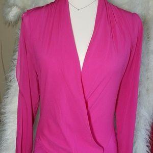 Bebe hot pink bodysuit