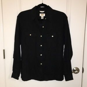 Talbots Irish Linen button down shirt sz 8