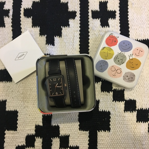 Fossil Accessories - NWT Fossil black leather watch