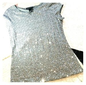 Silver sequined top from INC