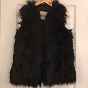 Abercrombie Black Faux Fur