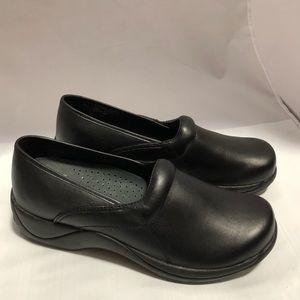 Dansko Women's Black Cabrio Slip-On Clogs, Size 43