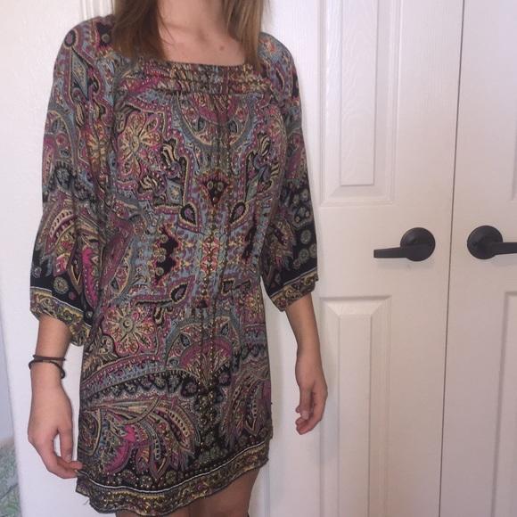Angie Juniors Printed Kaftan Dress