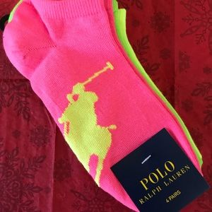 Ralph Lauren 4 pairs of Ankle Socks in cool colors