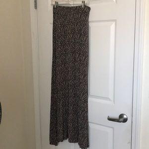 Brandy Melville Floral Maxi Skirt
