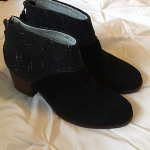 Toms Leila Black and White Dot Booties