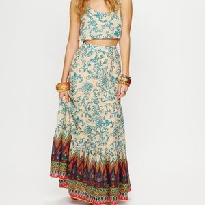 Free people co-ord sunrise skirt and bubble top