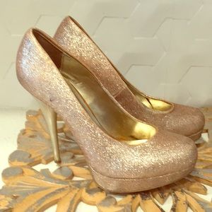 Steve Madden | All Gold Glitter Platform Pumps 7.5