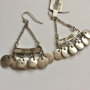 J. Crew • Silver Circle Drop Chandelier Earrings